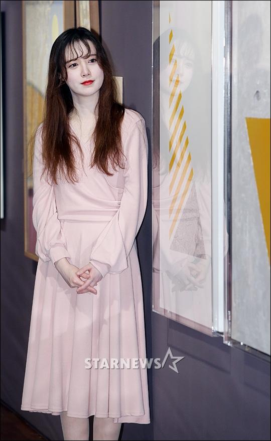 구혜선, '핑크빛 드레스 휘날리며'