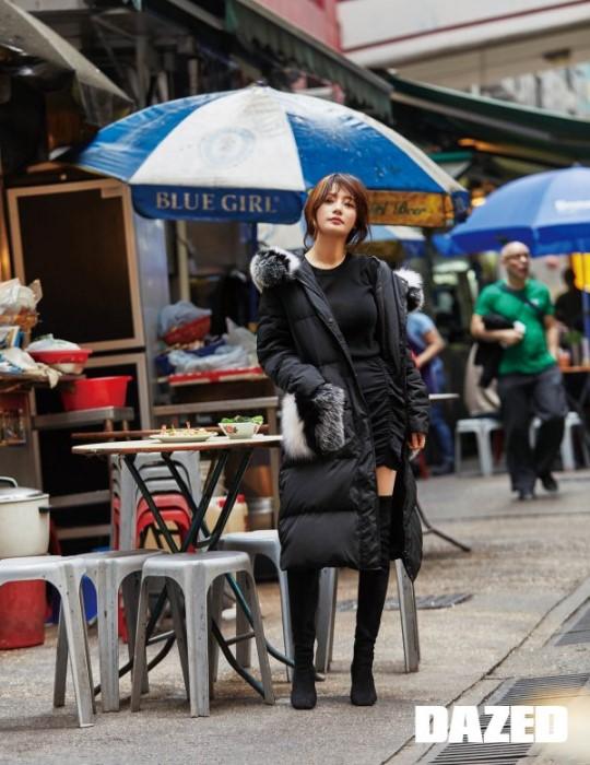 송하윤, 홍콩 거리 채운 여신 분위기