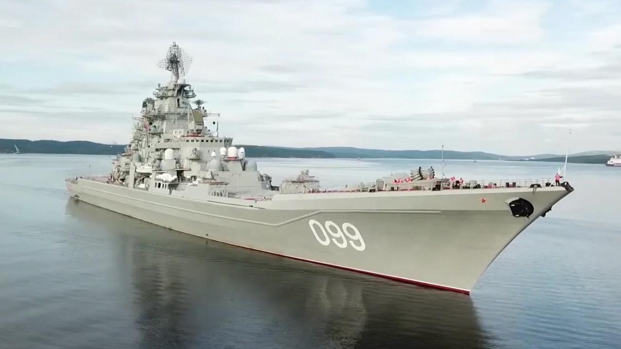 러 북해함대의 2만톤급 핵추진 거함 '표트르 벨리키이...